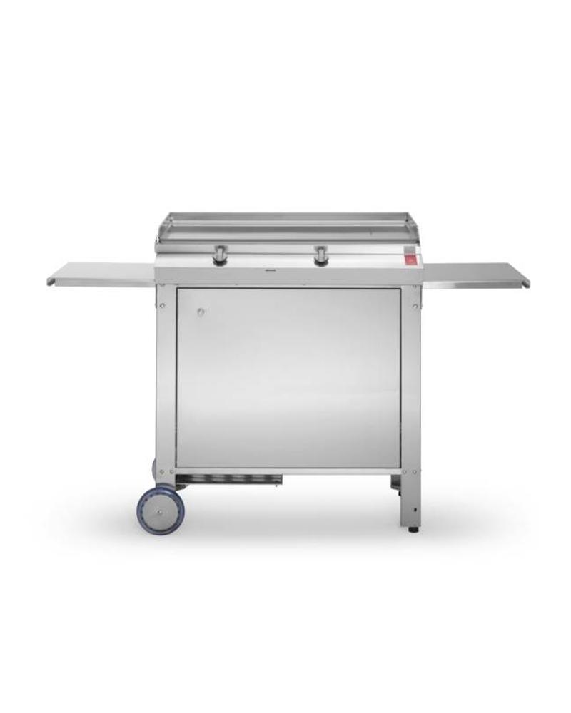 PLA.NET Plancha Barbecue-Gasgrill 80.1T MOMA, Grillwagen geschlossen
