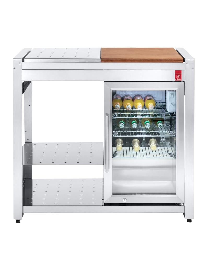 PLA.NET OASI 97 ICE Outdoor-Kühlschrank, fertiges Küchenmodul