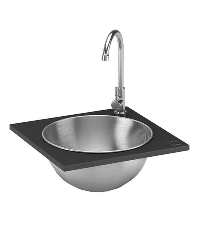 oneQ Einbauspüle WET, Design Outdoor-Küchen Einbauelement